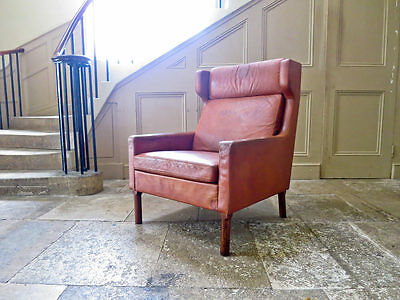 Fritz Hansen Arne Vodder Leather Armchair 1950 Mid Century Danish Modern