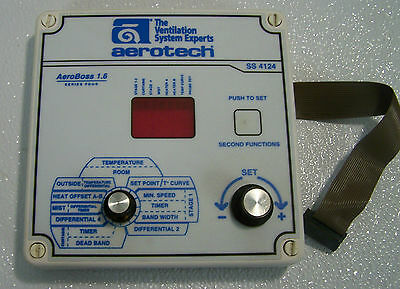 Aerotech AeroBoss 1.6 SS4124 Ventilation Control Front Panel - 90 Day Warranty