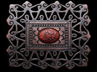 Ij21121 Vintage Look **victorian Style Lattice Work** Brasstone Fashion Buckle