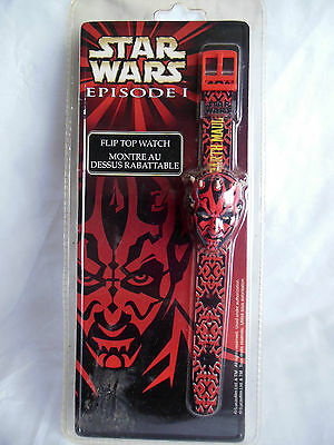Vintage Star Wars Episode 1 Collectible Darth Maul 3D Flip Top Watch New