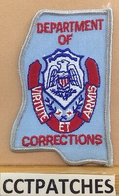 Mississippi Department Of Corrections State Shape (Police) Shoulder Patch Ms