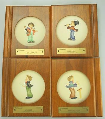 "Set of 4 M.I. Hummel Goebel Little Music Maker 4"" Plates #741, 742, 743, 744"