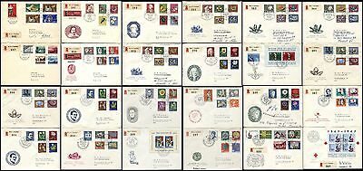 25 SWITZERLAND Covers Collection w Stamps Postage Mailed Envelopes 1955-64 USED