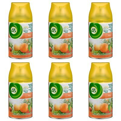 6 x AIR WICK FRESHMATIC AUTOMATIC SPRAY REFILLS 250ml EACH - CITRUS SCENT