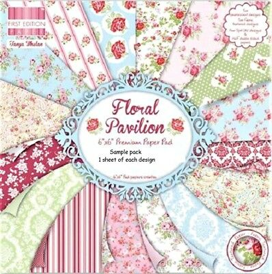 ALL THAT GLISTENS Dovecraft 6 x 6 Sample Paper Pack 16 sheets 1 of each design