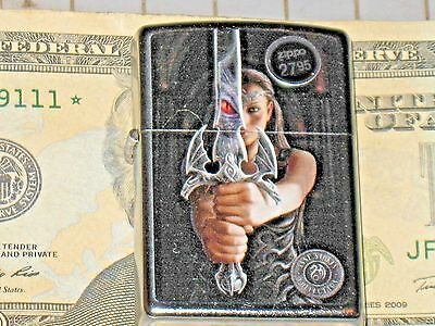 New USA ZIPPO 207 Anne Stokes Collection Sword Warrior Girl Windproof Lighter st