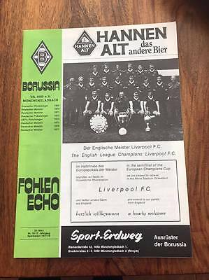 Bmg V Liverpool 1978 European Cup Semi Final Programme Free Postage Look