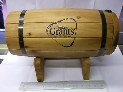 Grants Whiskey.wooden Barrel With Tap And Empty Bottle.see Pictures