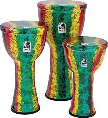 "Toca To809266 Sfdl-9Rb Djembe Freestyle Ligthweights 9"" Rasta Finish, (v6c)"
