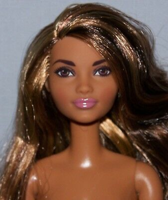 Nude Barbie Doll - Made to Move Articulated Poseable Brown Hair Brown Eyes