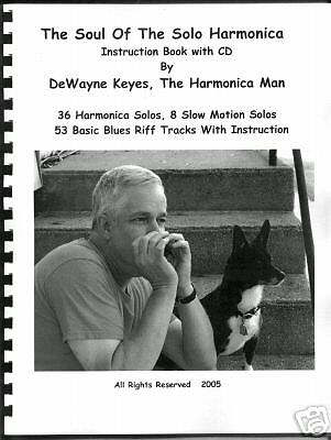 THE SOUL OF THE SOLO HARMONICA,   Instruction book & CD, 36 tabbed harp solos