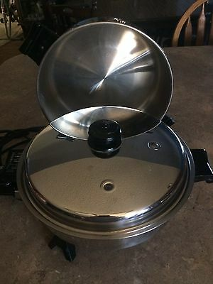 "SALADMASTER 11"" Electric Fry Pan #7817 With Extra High Dome Cover Gently Used"