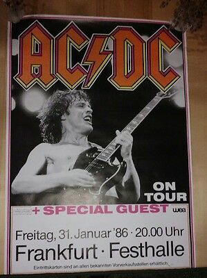 AC⚡DC ⚡      fly on the wall tour POSTER       Frankfurt not lp cd ⚡