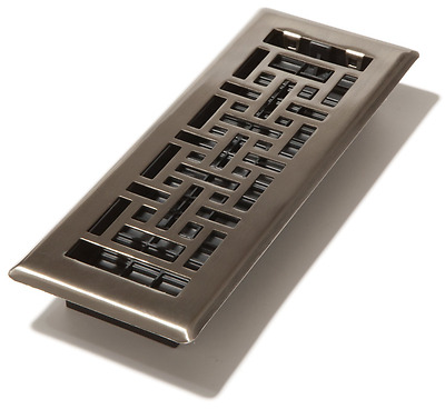 Decor Grates AJH310-NKL 3-Inch by 10-Inch Oriental Floor Register, Brushed Nicke