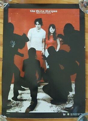 THE WHITE STRIPES White Blood Cells 2-sided Promo Poster 2001 Jack White 15x11