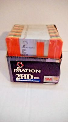 New Imation Pack Of 25 Rainbow Diskettes 2Hd 1.44 Mb Ibm Formatted Floppy Disks