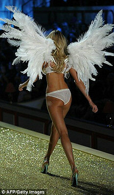 Victoria's Secret Cos Play Modeling 6' Ostrich Feather Angel Wings w/Straps