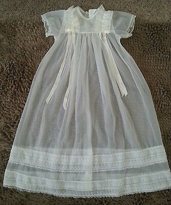 Styled by the Shepherd*Vintage White Christening Gown*Newborn Baby Girl*EVC