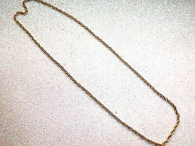 Vintage 10K Yellow Gold 16 inch Chain Necklace 2.5mm 4 grams