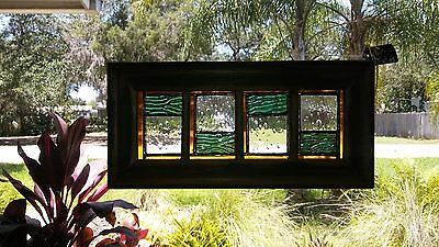 stained glass framed window hanging 6 X 13 inch