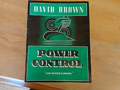 David Brown Farm Implement catalog printed in England