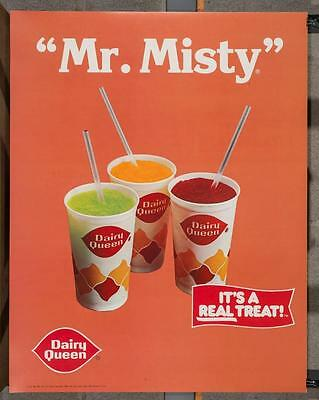 Vintage Dairy Queen Promotional Poster Mr. Misty 1984 dq2