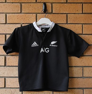 New Zealand All Blacks Boy's Kid's Adidas Rugby Jersey 9-10Y Small