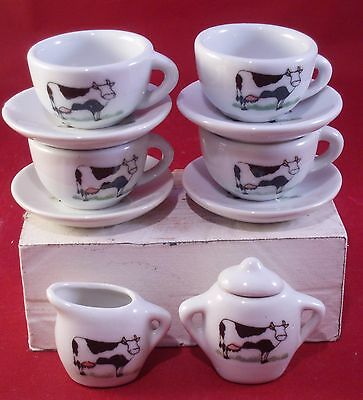 Mini Cow Tea Set