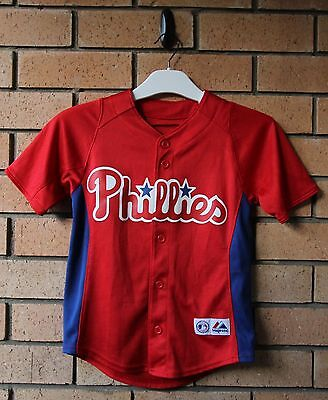 Philadelphia Phillies Boy's Kid's Majestic Athletic Mlb Jersey Baseball