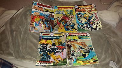 Lot of 5 DC Brave and the Bold Comics - ACCEPTABLE Condition