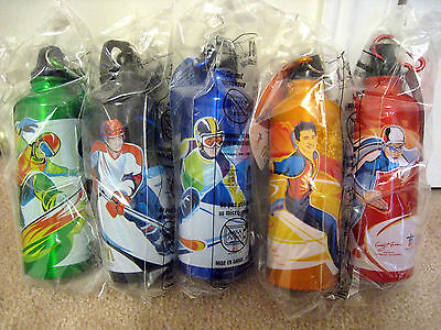 McDonald's Water Bottles Vancouver 2010 Olympics New in Bag McDonalds (Set of 5)