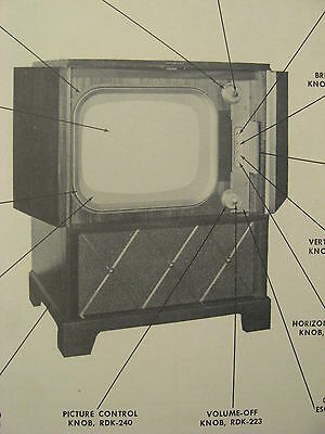 Vintage Original 1952 Television Receiver Model 20C150 20C151 Ge Service Manual