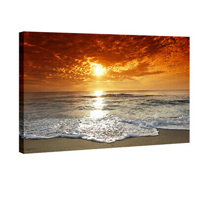 Canvas Print Painting Picture Home Decor Wall Art Sea Beach Landscape Framed