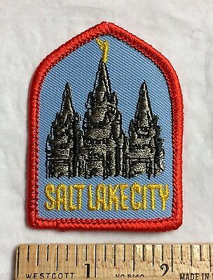 Salt Lake City UTAH UT Mormon Temple Church Souvenir Embroidered Patch