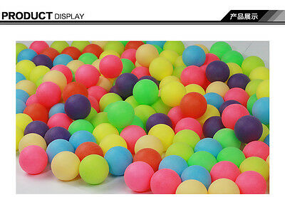 Entertainment Colorful  Ping Pong Ball Colorized Table Tennis ball  100pcs