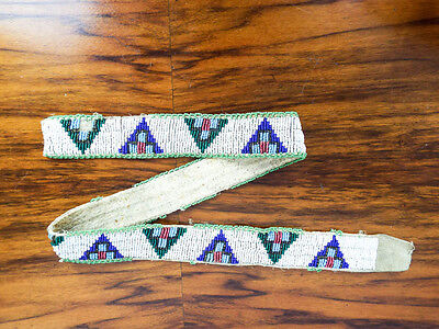 Vintage Native American Pyramid Beaded Traditional Northern Plains Indian Belt