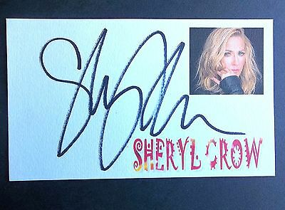 """Sheryl Crow """"Soak Up The Sun"""" """"If It Makes You Happy"""" Autographed 3x5 Index Card"""