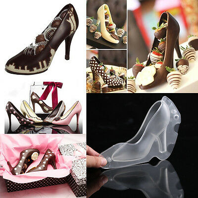 3D DIY High Heel Shoe Chocolate Mold Cake Candy Jelly Mould Ice Soap Mold E P B