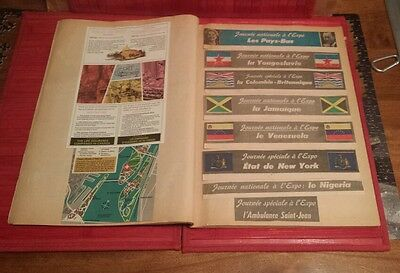 Montreal World Fair Expo 67 Terre des Hommes Scrapbook Newspapers clippings