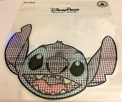 Disney Stitch with Crystal Jewels Auto Decal / Sticker / Cling New