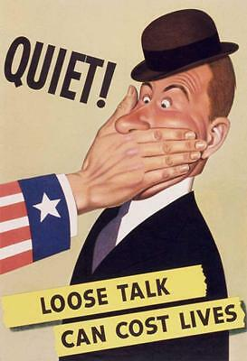 Loose Talk Can Cost Lives,  Poster From Wwii, Fridge Magnet