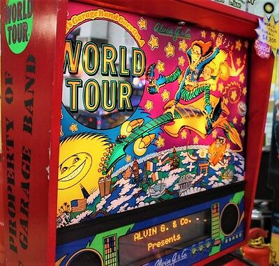 Alvin G World Tour Pinball Machine