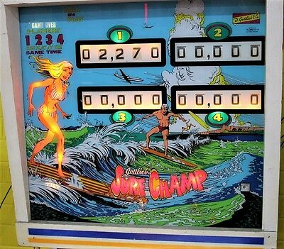 Pinball Machine Surf Champ