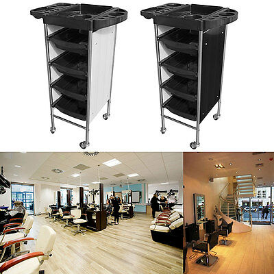 5 Drawer Salon Barber Beauty Hairdresser Spa Trolley Cart Storage Hair Roller US