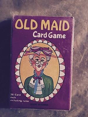Vintage Old Maid Card Game (Brand New) (Mint Condition) 1970's?