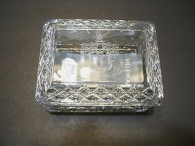 J.G.Durand France Crystal Box Engraved Coate of Rosemary Hall