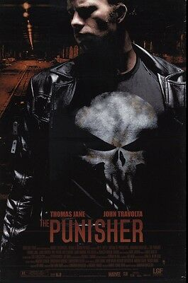 THE PUNISHER Original Movie Poster - Marvel Superhero Double Sided 27x40 Poster