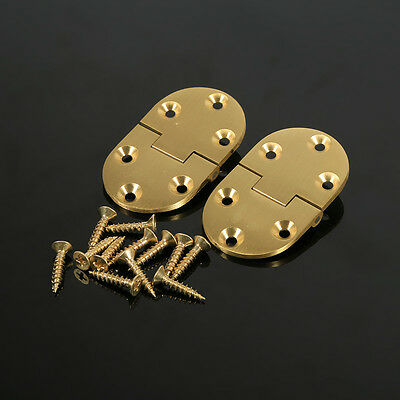 """2-1/2""""x1-1/2"""" Brass Material Butler Tray With Screw Infold Table Hinges Cabinet"""