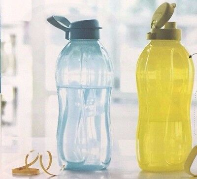 Tupperware 2 L 0r 2000 ML , The BIG Bottle, ECO Flip Top Water bottles - New!