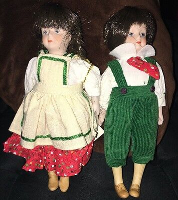Storybook Dolls Gorham Hansel And Gretel New In Box Lot Of 2
